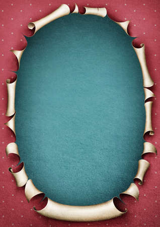 Vintage paper pastel pink frame in shape oval  Computer graphics  Stock Photo