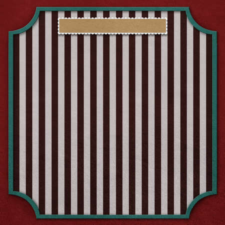 computergraphics: Square background with vintage frame and  red stripe  Computer-graphics