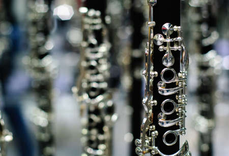 clarinet detail black and silver Stock fotó - 16622829