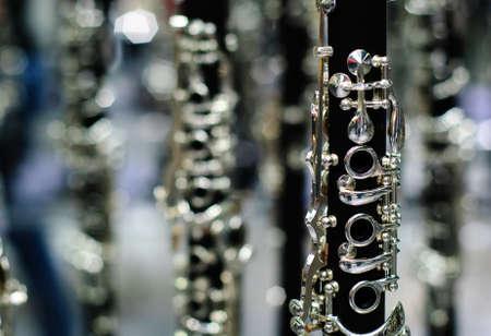 clarinete: clarinete detalle negro y plata