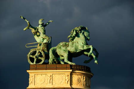paard standbeeld budapest