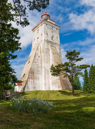 lighthouse in estonia fresh green photo