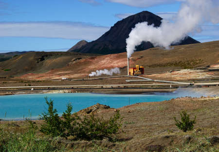 electric power station: geothermal plant iceland
