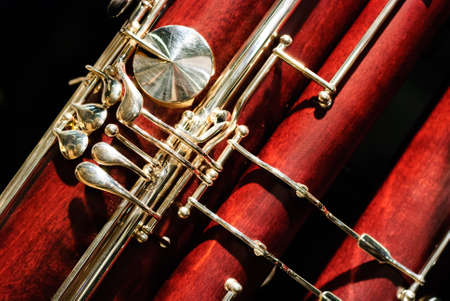 詳細ファゴット木製楽器 写真素材