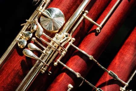 Particolare strumento in legno fagotto Archivio Fotografico - 20110214