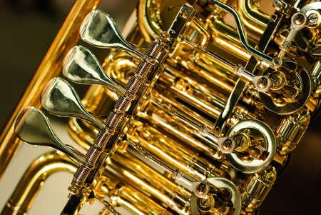 koperen instrument monteur detail Stockfoto