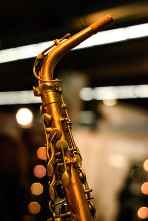 saxophone detail ligts Imagens