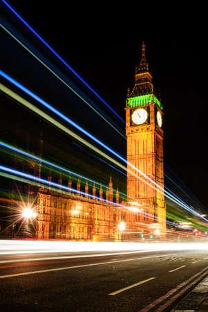 Big Ben Londen Night lichte streep