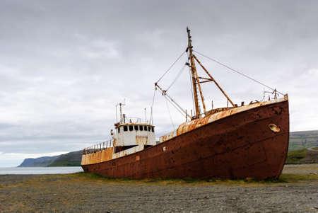ship wrack iceland Stock fotó - 20672315