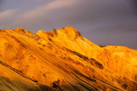 landmannalaugar glow mountain