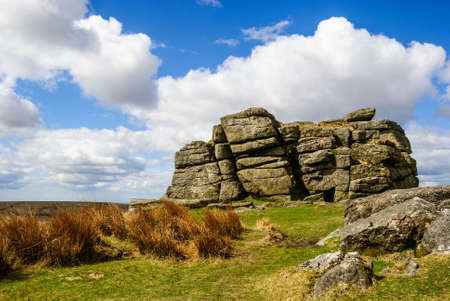 rock formation dartmoor england Stock fotó
