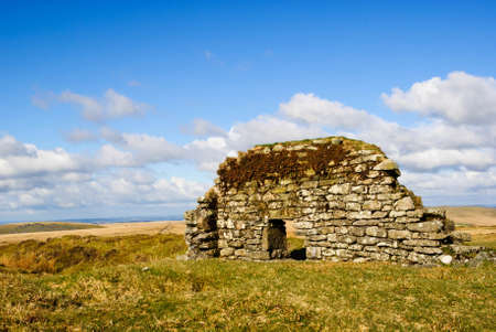 oude stenen huis Dartmoor Engeland
