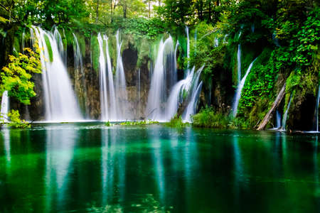 plitwice Lake National Park kroatië Stockfoto