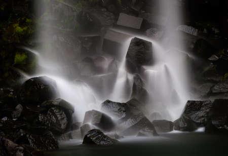 lava formation waterfall svartifoss iceland Imagens