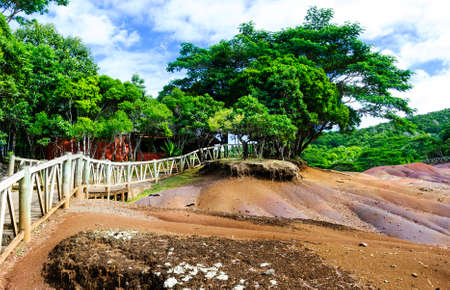 exotische gekleurde aarde Chamarel Mauritius