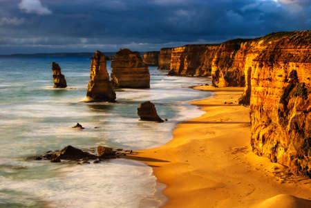 australia beach: twelve apostles australia sunset great ocean road