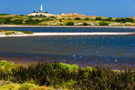 rottnest island salt lake lighthouse australia