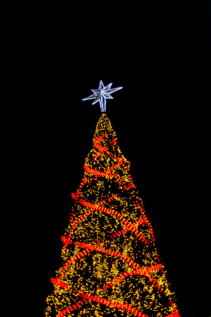 Blur of Christmas Tree Decorations photo