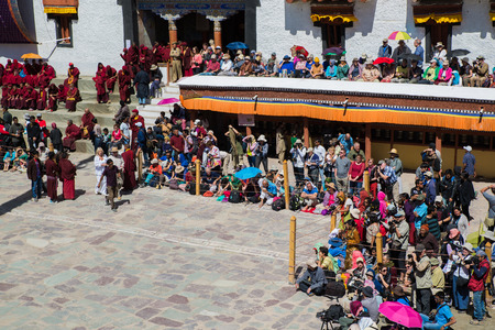 annually: Many people go to Hemis Festival 2014 in Hemis Monastery