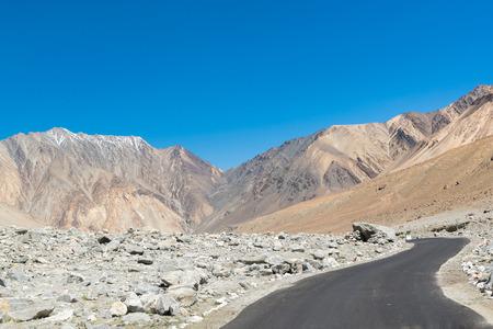 ladakh: Road to Pangong Lake in Ladakh,India.