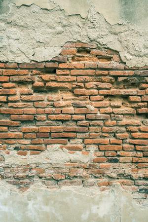 bangrak: Old brick wall.Vintage tone.