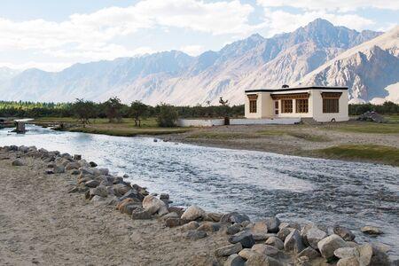 kashmir: Building in Nubra Valley, Ladakh, Jammu and Kashmir, India.