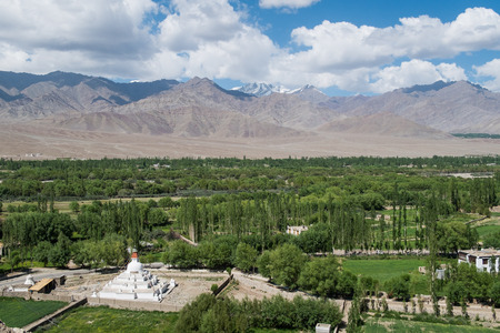 ladakh: View behind Shey Palace in Leh Ladakh. Editorial