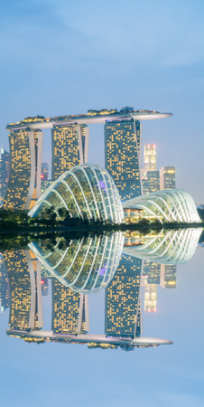 billion: SINGAPORE - March 18, 2016 : Marina Bay Sands Hotel is an integrated resort fronting Marina Bay in Singapore. Developed by Las Vegas Sands, it is billed as the worlds most expensive standalone casino property at S$8 billion