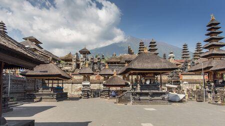 stu: BALI, INDONESIA - OCTOBER 26 : The Pura Besakih in the village of Besakih on the slopes of Mount Agung in eastern Bali, Indonesia on October 26, 2014