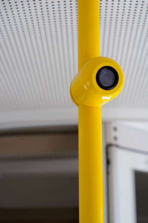 In public transport surveillance cameras are nowadays also important to give security Stock Photo - 25659339