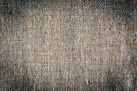 A background texture of burlap cloth vignette Stock Photo