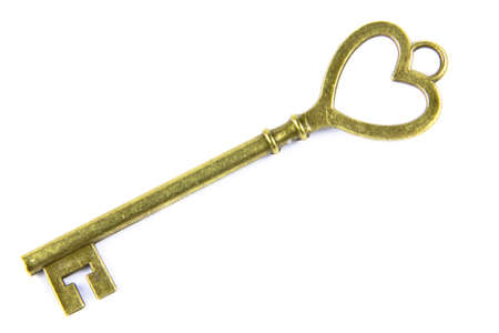 The key of love isolated on a white background