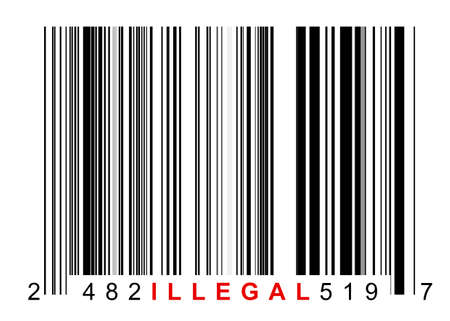 Barcode for identifying all kinds of illegal goods Stock Photo