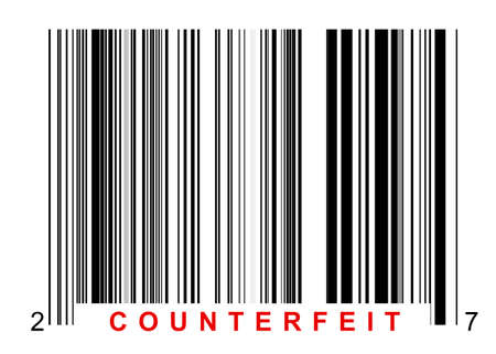 Barcode for identifying all kinds of counterfeit goods Stock Photo - 54244660