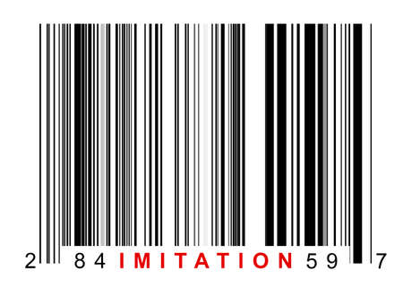 Barcode for identifying all kinds of imitation goods