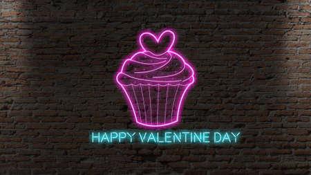 Cupcake with mini hearts