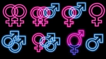 Sex symbols neon pack