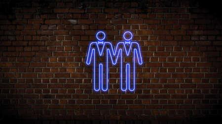 Two men in love neon sign