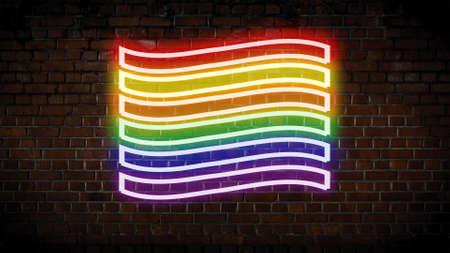 Gay Pride flag neon sign