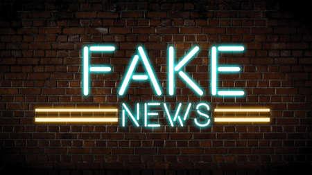 Fake news neon sign