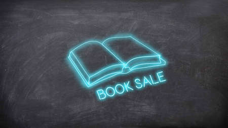 Book sale neon sign
