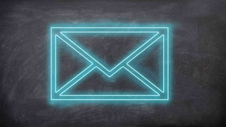 E-mail symbol neon sign