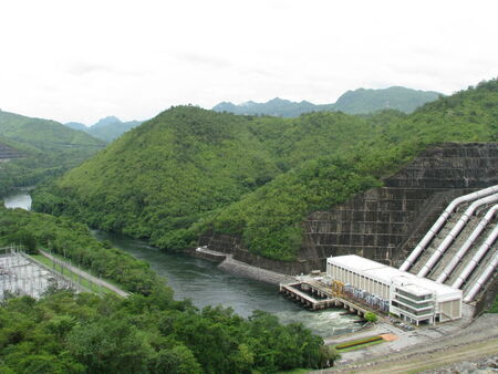 dam and beautiful scene photo