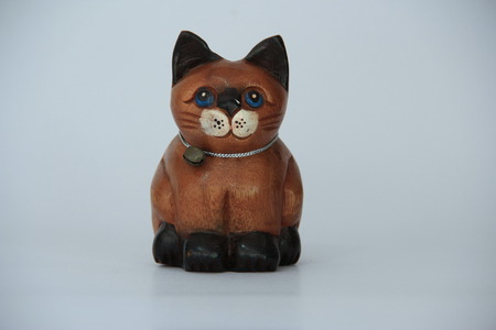 wooden cat photo