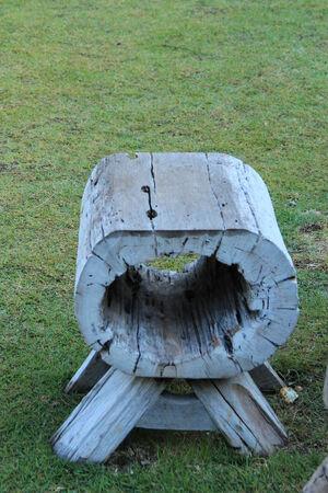 wooden stool: wooden stool