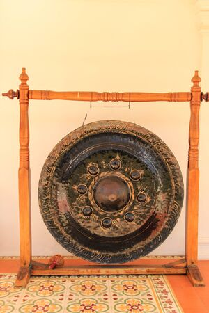 gong: Gong or tam-tam in Thai temple