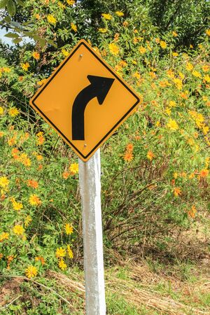 tourist attraction: Traffic sign at tourist attraction Stock Photo
