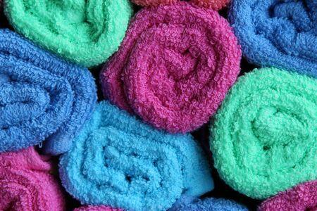 부드러운 다채로운 수건 배경