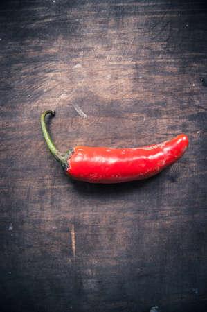 textura: chile rojo sobre mesa