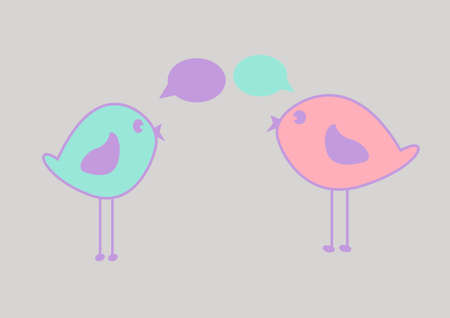 Beautiful pink birds